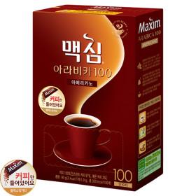 맥심 아라비카 솔루블 블랙커피100T (커피만)