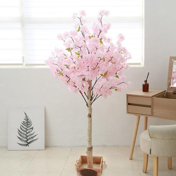 인조나무 작은 조화나무 실내조경 구름벚꽃 150cm 상품이미지
