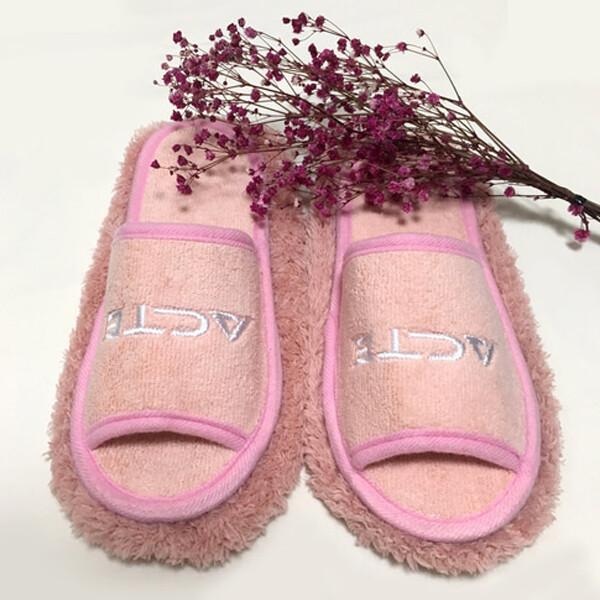 극세사청소슬리퍼 핑크 걸레슬리퍼 청소신발 슬리퍼 상품이미지