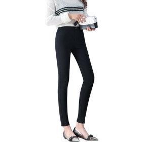 여성 블랙 스키니 슬림 스판 여자 바지 청바지 면바지