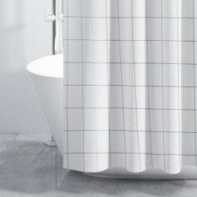 패브릭 샤워커튼-체크무늬 180x180cm / 샤워커텐 욕실