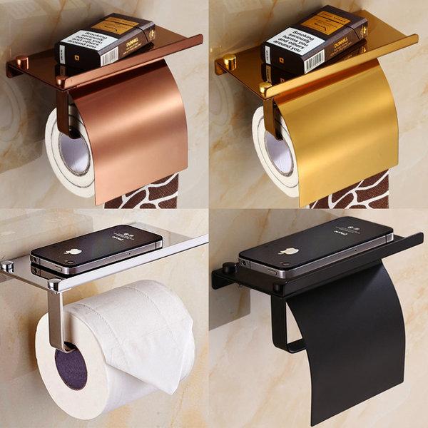 화장실 휴지걸이 욕실용품 휴대폰 거치대 선반 교체형 상품이미지