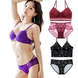 예쁜속옷공유/왕뽕여자속옷세트/CD컵/브라팬티/여성