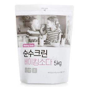 순수크린 베이킹소다 대용량 5KG 1개 /세탁세제표백제
