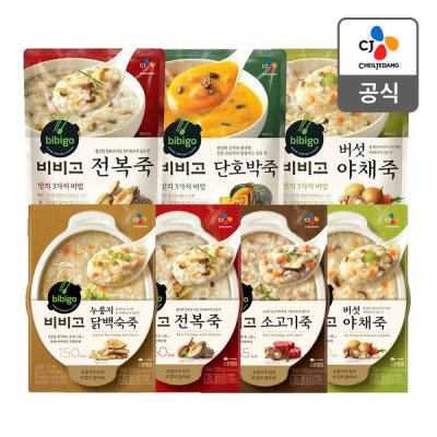 CJ bibigo chicken soup with scorched rice 280g 5 packs/abalone rice porridge/sweet red bean porridge