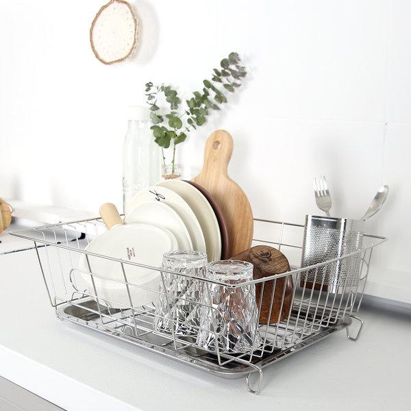 스텐 식기건조대 1단 그릇정리대 설거지건조대 상품이미지