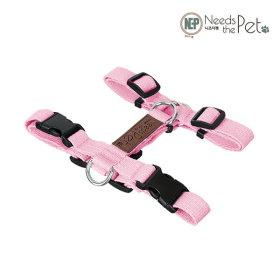 니즈더펫 순면 강아지하네스 가슴줄 H형 핑크 L