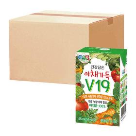 베지밀 야채가득v19 145ml x 48팩 +음료 1박스 증정