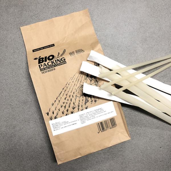 먹을 수 있는 친환경 쌀빨대 95+5개 라이스 스트로우 상품이미지