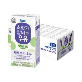 매일 소화가잘되는 저지방 멸균우유 190ml 24팩/우유