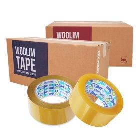 투명테이프 포장 택배 이사 L3-경포장(50Mx50개)투명
