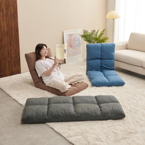 디센 FLUFFY 플러피 각도조절 패브릭 쿠션 좌식 의자 (10881465) 상품이미지