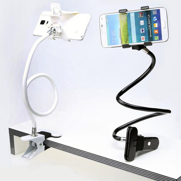 OMT 듀얼집게 자바라 핸드폰 거치대 OSA-JAB08 화이트 상품이미지