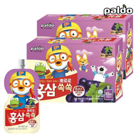Pororo Red Ginseng Ssok Ssok Grape Blueberry Pouch 100ml Total 20pcs(2BOX)
