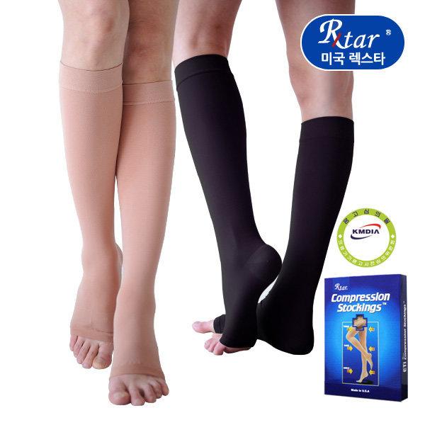렉스타 압박스타킹 201 무릎형 발트임 단단재질-살색 상품이미지