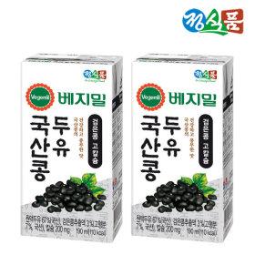 베지밀 국산콩 검은콩고칼슘 두유 190mlx48팩