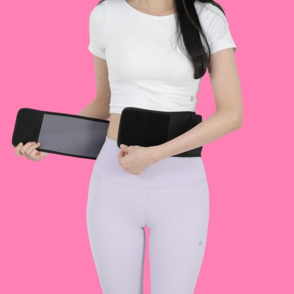 허리배 어깨 온열 전기찜질기 발열복대 다크그레이특대 상품이미지