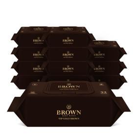 브라운 VIP골드브라운 아기물티슈 32매 라이트캡 12팩