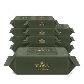 브라운 네이처프리미엄 아기물티슈 30매 라이트캡12팩