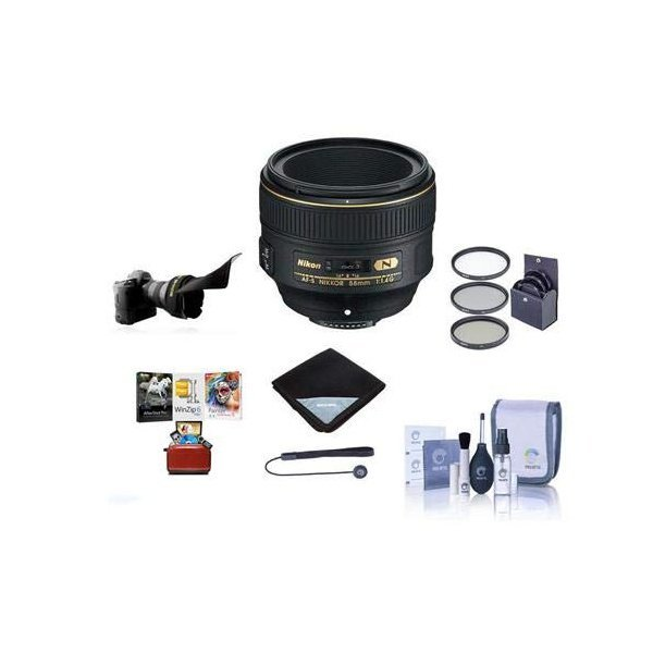 해외쇼핑/Nikon 58mm f/1.4G AF-S NIKKOR Lens U.S.A. - Bundle with 72mm Filter Kit  Cleaning Kit  Lens 상품이미지