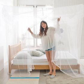 사각 모기장 고급-대형/ 방충망 침대 캐노피 원터치
