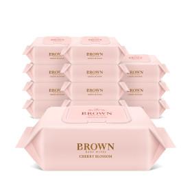 브라운 네이처체리블라썸 아기물티슈 20매 휴대캡12팩
