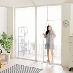 베란다 모기장-대형/자석 방충망 롤 현관 창문 원터치