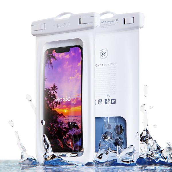 IPX-8등급 스마트폰 핸드폰 휴대폰 방수팩 P2 화이트 상품이미지