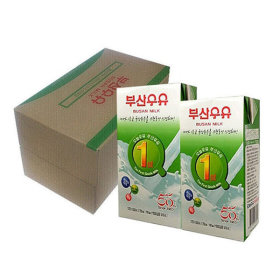 BUSAN sterilized milk 1000mlx10 packs/SEOUL MILK/Yonsei milk/milk