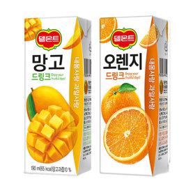 델몬트 오렌지 + 망고 드링크팩 24+24
