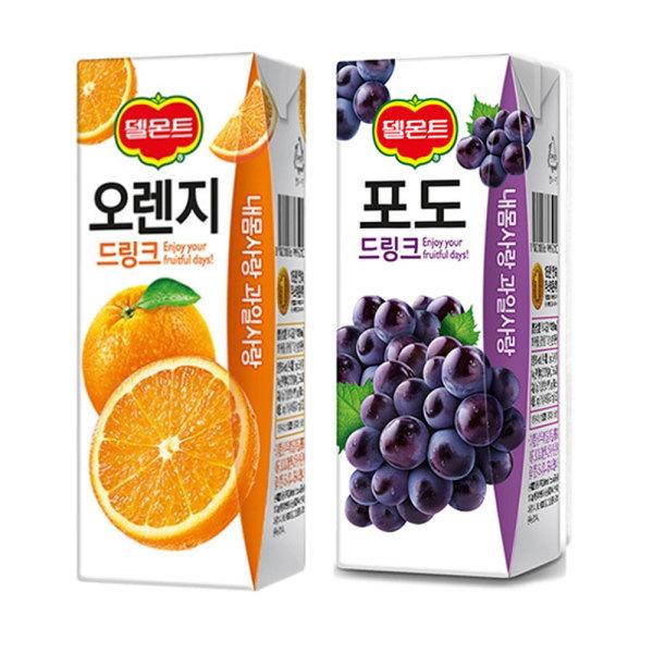 델몬트 오렌지 + 포도 드링크팩 24+24 상품이미지