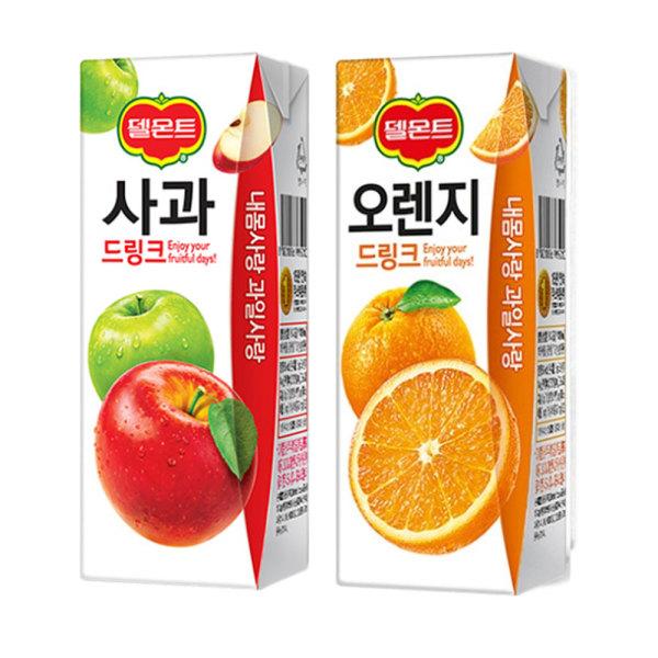 델몬트 사과 + 오렌지 드링크팩 24+24 상품이미지