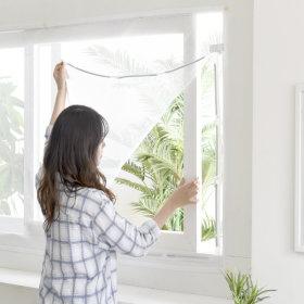 창문 모기장-대/자석 방충망 롤 현관 원터치 사각침대