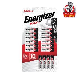 에너자이저 건전지 맥스 AA 12+4입 /배터리/충전지