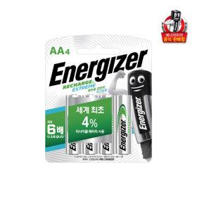에너자이저 충전지 AA 4입(2300mAh) /건전지/배터리