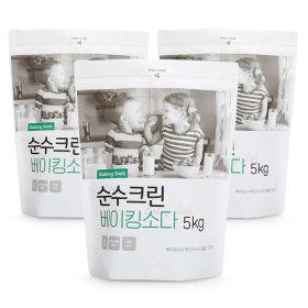 순수크린 베이킹소다 대용량 5kg 3개 총15kg /과탄산