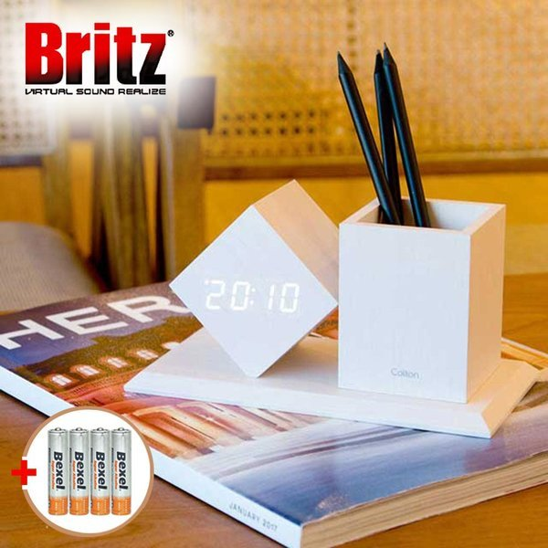 BZ-EW547 Pen Clock LED 알람 탁상시계 색상/화이트 상품이미지