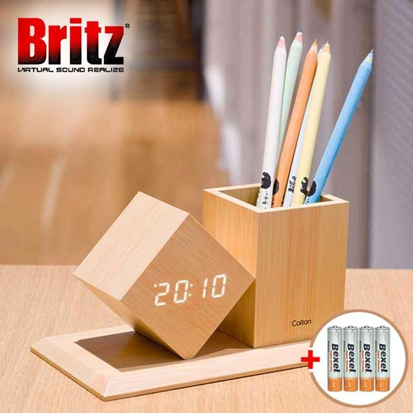 BZ-EW547 Pen Clock LED 알람 탁상시계 색상/우드 상품이미지