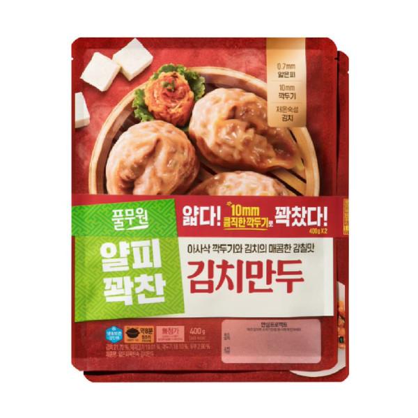 풀무원)얇은피 꽉찬속 김치만두 400G 2 상품이미지