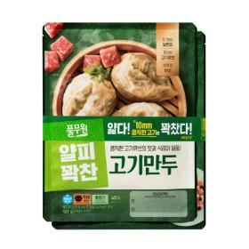 풀무원)얇은피 꽉찬속 고기 만두 400G 2