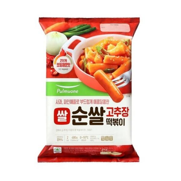 풀무원 쌀 순쌀 고추장 떡볶이 480g(2인분) 상품이미지