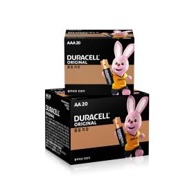 알카라인 건전지 AA 20개 + AAA20개+손풍기