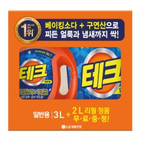 LG)테크액체세제창립기획(일반용)3L+2L