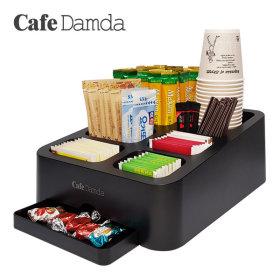 카페담다 커피/차/티백/종이컵/스푼 정리 수납 보관함