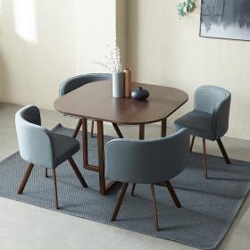 체스넛 4인 테이블세트(의자포함) 카페테이블