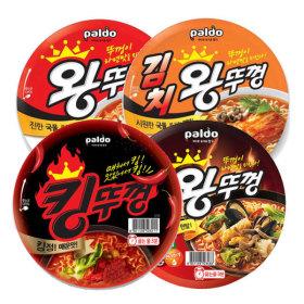 왕뚜껑 4종(혼합) x 4개 김치/우동/짬뽕/오리지널 16