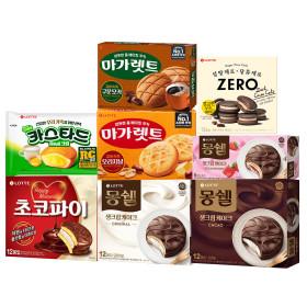 초코파이/몽쉘(크림/카카오/치즈)336g 8곽 골라담기