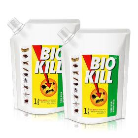 비오킬 1L X 2개 바퀴벌레 개미 진드기 살충제