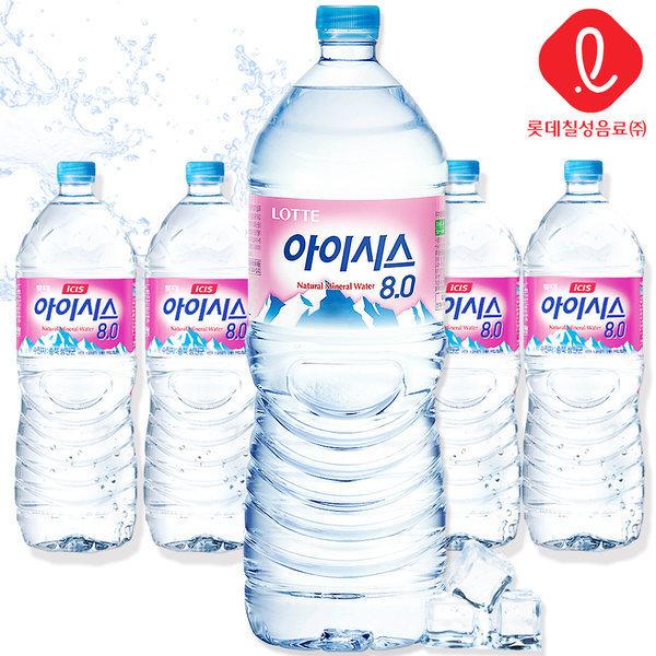 롯데 아이시스8.0 2Lx 6펫 /생수/먹는샘물/칠성음료 상품이미지