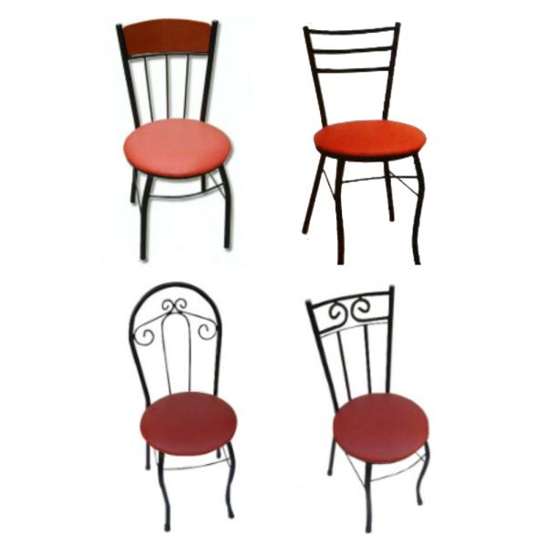 예쁘고심플한철재의자6종/가정용의자/업소구내식당 상품이미지